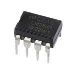 Integrated Circuit - LM386N-1/NOPB Low Voltage Amplifier, 1 Amp, PDIP 8
