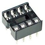 IC Socket - 8 pin, DIL Tinned Dual Contacts