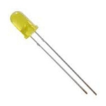 Bulk Pack of 500 Yellow Diffused  LED 5mm